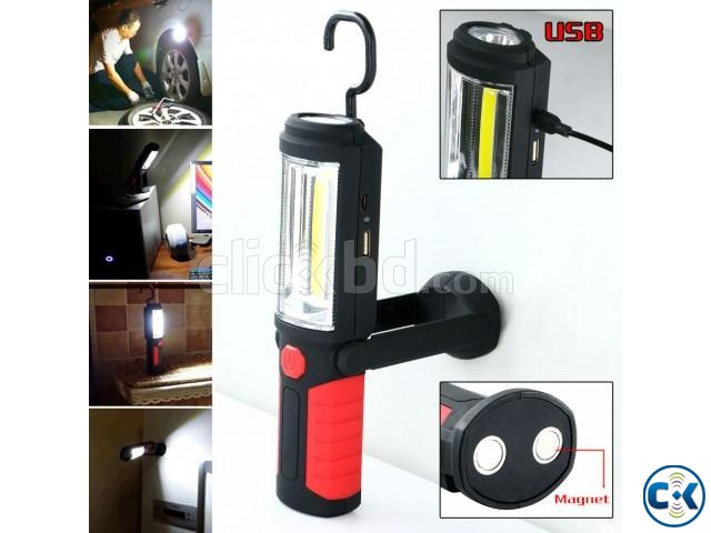 USB Rechargeable LED Flashlight Torch 360 degree | ClickBD large image 3