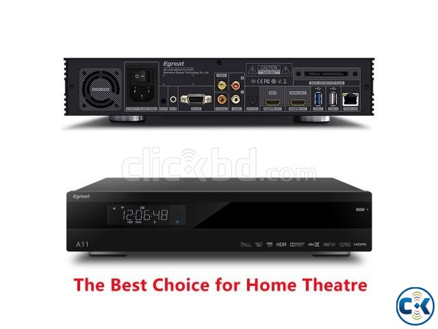 Egreat A11 Blu-ray HDD Media Player 4K HDR Dual HDMI 2G 16G | ClickBD large image 2