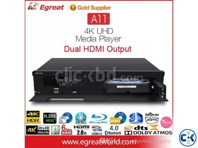 Egreat A11 Blu-ray HDD Media Player 4K HDR Dual HDMI 2G 16G | ClickBD large image 3