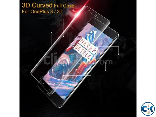 Premium 3D Curved Full Transparent Glass For Oneplus 3T | ClickBD large image 0