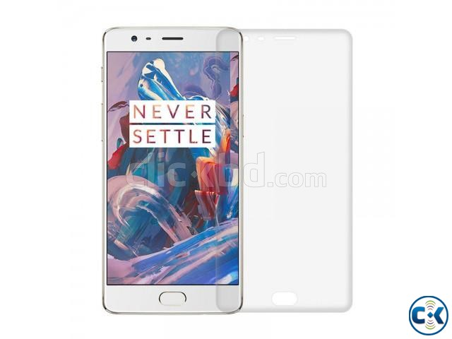 Premium 3D Curved Full Transparent Glass For Oneplus 3T | ClickBD large image 2
