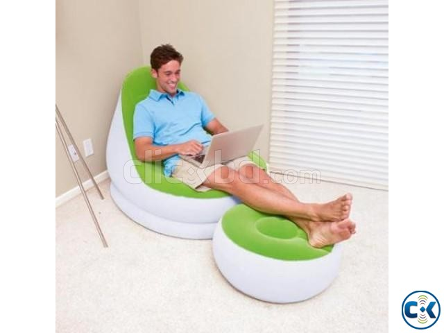 2 in 1 Air Chair and Footrest Sofa intact Box | ClickBD large image 0
