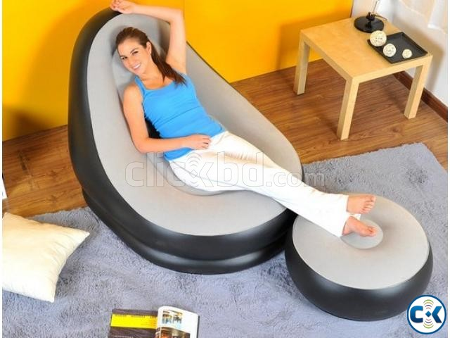 2 in 1 Air Chair and Footrest Sofa intact Box | ClickBD large image 1