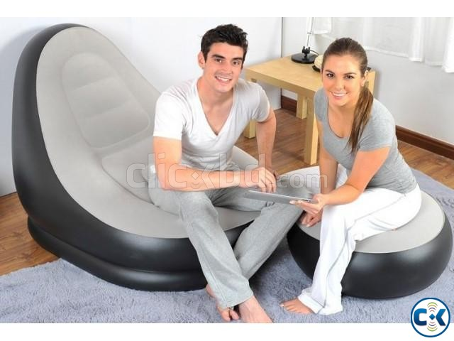 2 in 1 Air Chair and Footrest Sofa intact Box | ClickBD large image 2