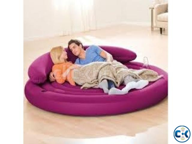 Intex Round Lounge Air Bed | ClickBD large image 0