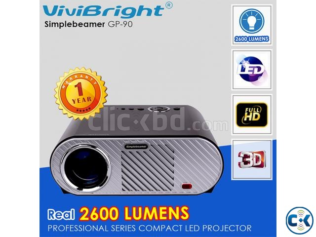 Vivibright GP90 Multimedia Projector 3D HD LED Projector   ClickBD large image 0