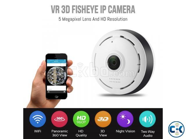 3D VR IP Camera Panoramic 360 Fisheye HD IP Camera | ClickBD large image 0