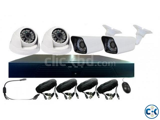 CCTV Package Dahua DH-HAC-HFW1200RP Recorder 4 Camera | ClickBD large image 0