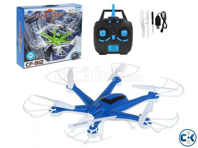 RC 2.4G six-axis gyro quadcopter 4 channel Camera 6 motor | ClickBD large image 0