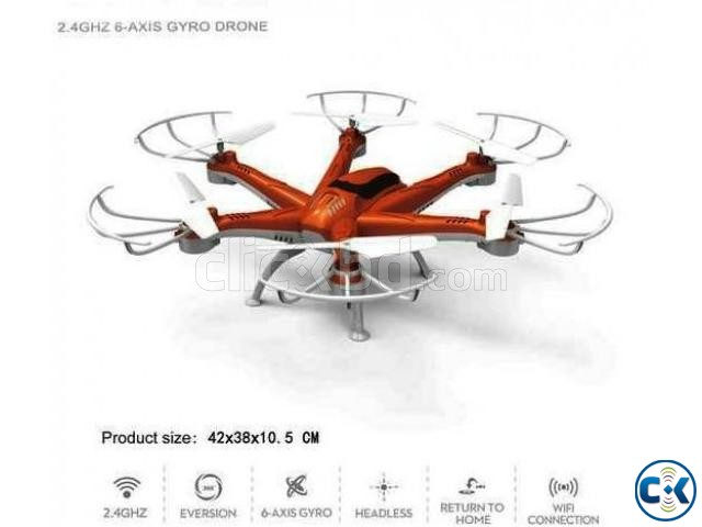 RC 2.4G six-axis gyro quadcopter 4 channel Camera 6 motor | ClickBD large image 1