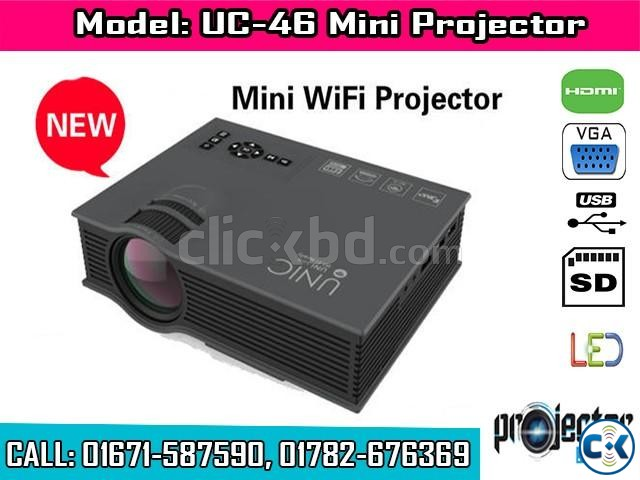 UC46 Mini WiFi Portable LED Projector | ClickBD large image 0
