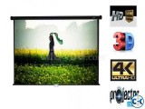 84 x 84 Matte White Manual Wall Mounted Projection Screen