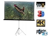 96 x 96 Portable Tripod Projector Screen