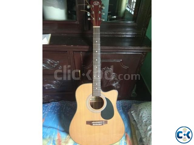J D acoustic guitar with electric EQ cheap Price | ClickBD large image 1
