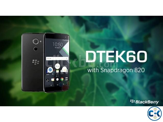 Brand New Blackberry DTEK 60 Sealed Pack With 3 Yr Warranty | ClickBD large image 0