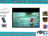 133 Diagonal 16 9 4K Ready High Contrast Projector Screen