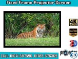 151-inch 16 9 4K Home Theater Fixed Frame Projector Screen