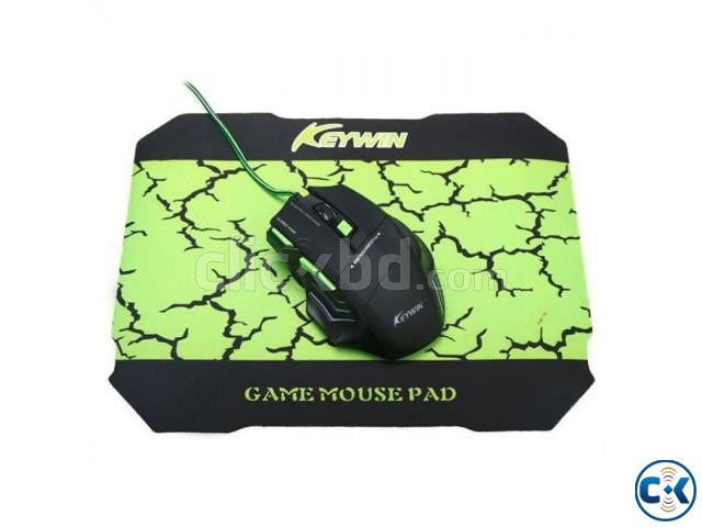 Keywin Gaming Mouse Mouse Pad Combo | ClickBD large image 1
