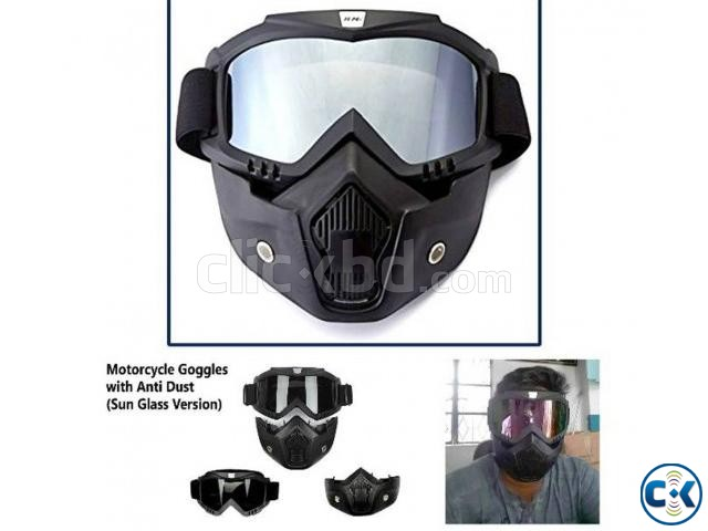Motorcycle Goggles with Anti Dust | ClickBD large image 0