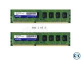 Adata RAM 2GB ddr3 1333Bus Total 4Gb
