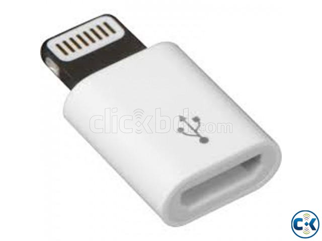 Digital Micro USB Adapter for iPhone - White | ClickBD large image 0