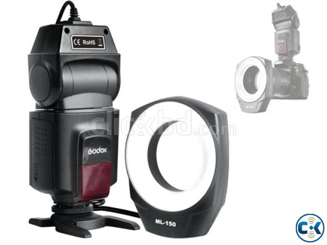 Godox ML-150 Hot Shoe Macro Ring Photography Flash Light | ClickBD large image 1