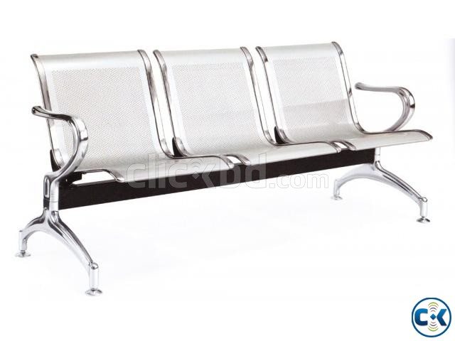 Brand New Steel 3 sits Waiting Sofa. | ClickBD large image 1