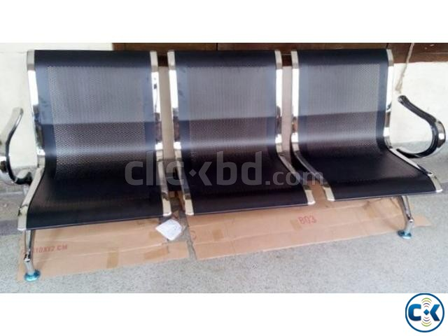 Brand New Steel 3 sits Waiting Sofa. | ClickBD large image 2