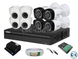 CCTV Package Dahua 4CH DVR 4 Pcs Camera 1TB HDD