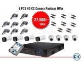 Dahua 8 Pcs CC Camera Package Offer