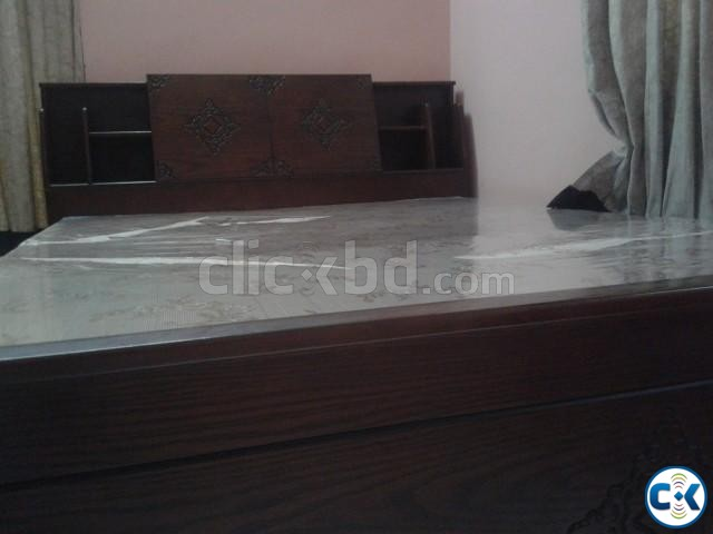 DAUBLE BED WITH MATTRESS | ClickBD large image 0