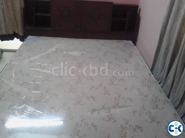 DAUBLE BED WITH MATTRESS | ClickBD large image 1