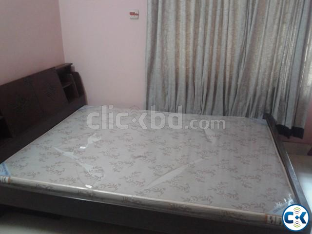 DAUBLE BED WITH MATTRESS | ClickBD large image 2