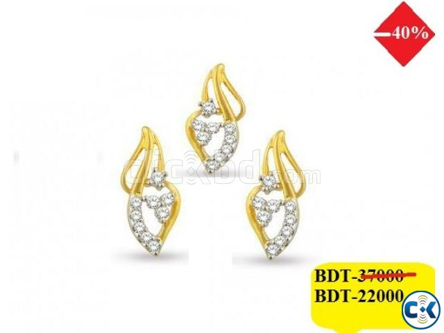 Diamond with Gold Pendant set 40 off | ClickBD large image 0