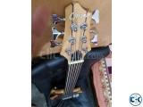 Guson 6 strings fretless bass