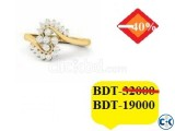 Diamond With Gold Ring 40 OFF