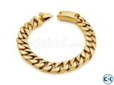 Men s Bracelet Stainless Steel Bracelet-Gold