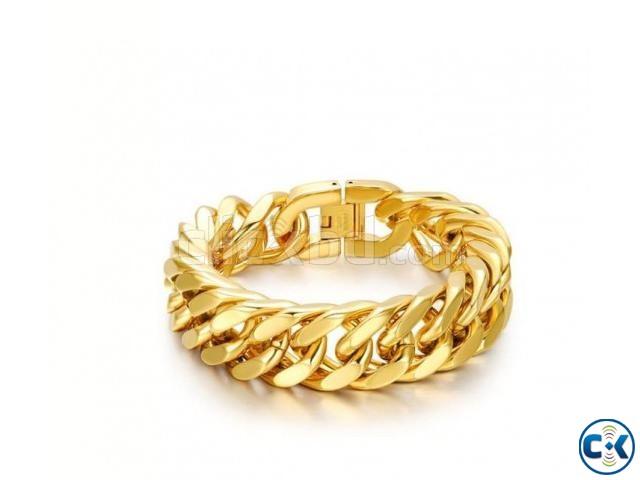 Men s Bracelet Stainless Steel Bracelet-Gold | ClickBD large image 0