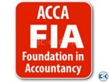 Teacher available for Foundations in accountancy-FIA-ACCA