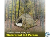 3-4 Person Tent Camping Waterproof Automatic Instant Popup