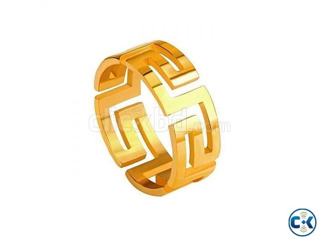 Golden Stainless Steel Finger Ring for Women | ClickBD large image 0