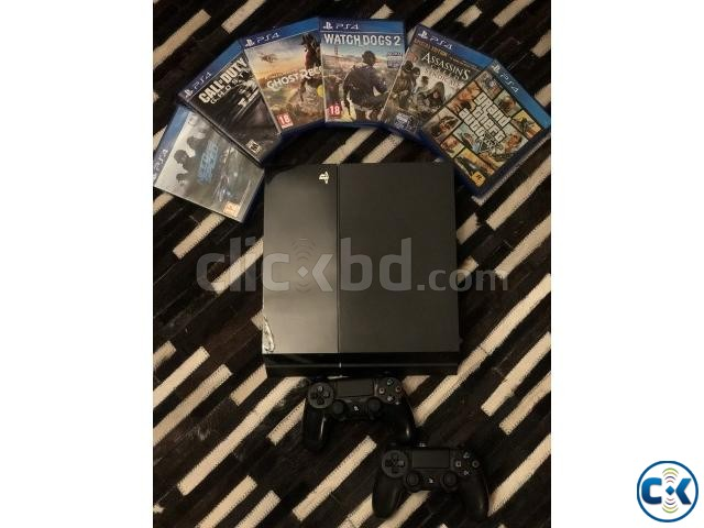 PlayStation 4 with Two Controller and Six Best Games | ClickBD large image 0