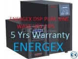 ENERGEX DSP PURE SINEWAVE STATIC UPS 2500VA. 5Yrs War.