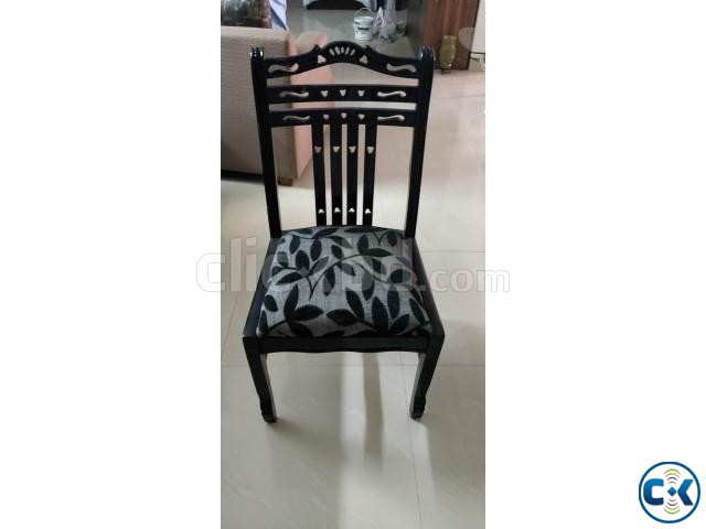 Dining chair made of wood in excellent condition | ClickBD large image 0