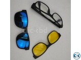 3 in 1 Magic Vision Stylish Sunglass with Night Vision