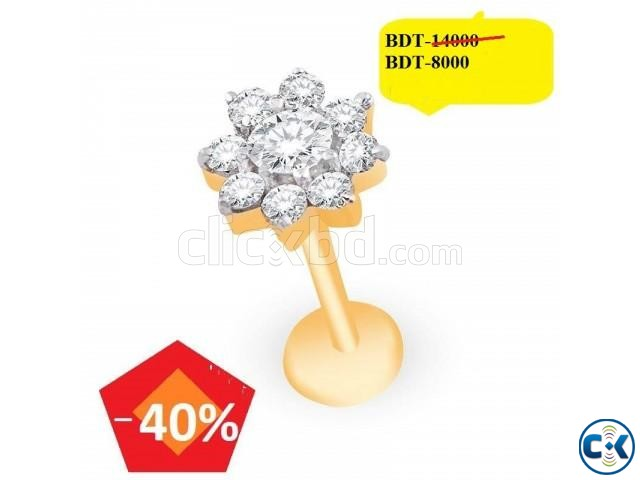 Diamond With Gold nose pin 40 off   ClickBD large image 0