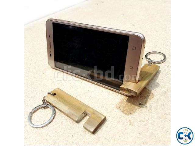 Bamboo Key Ring Mobile Stand | ClickBD large image 2
