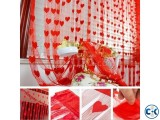 Handloomwala Heart Net Curtain 2pis