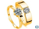 Gold Plated Finger Ring Couple