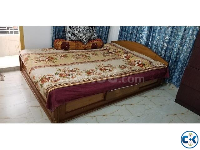 Bed with Mattress | ClickBD large image 0